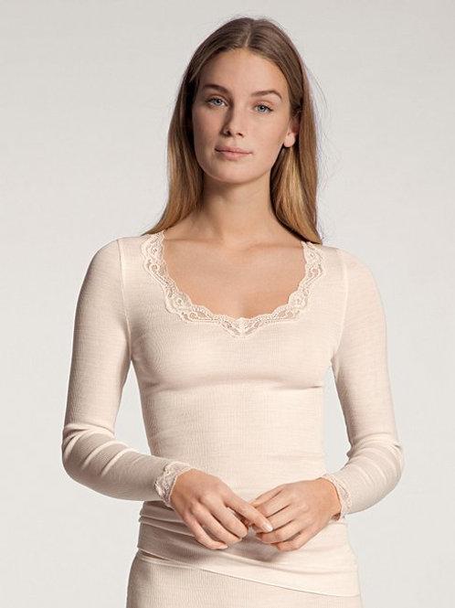 T-shirt manches longues (15990) - Laine et soie - CALIDA