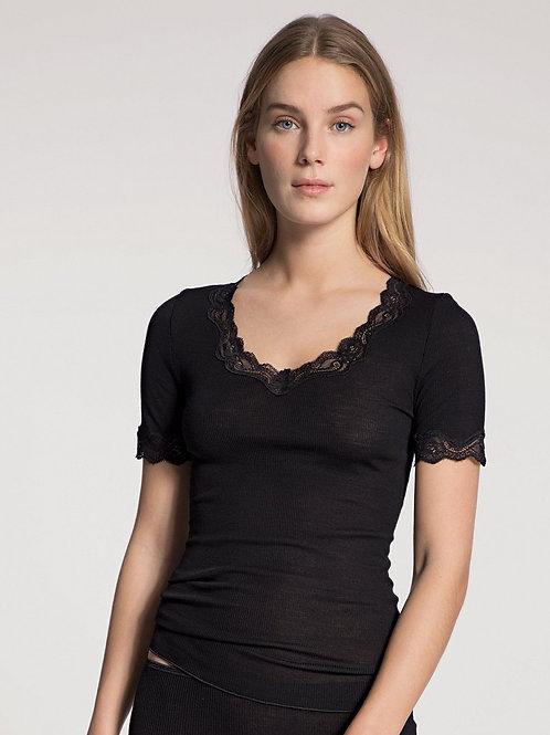 T-shirt manches courtes (14990) - Laine et soie - CALIDA