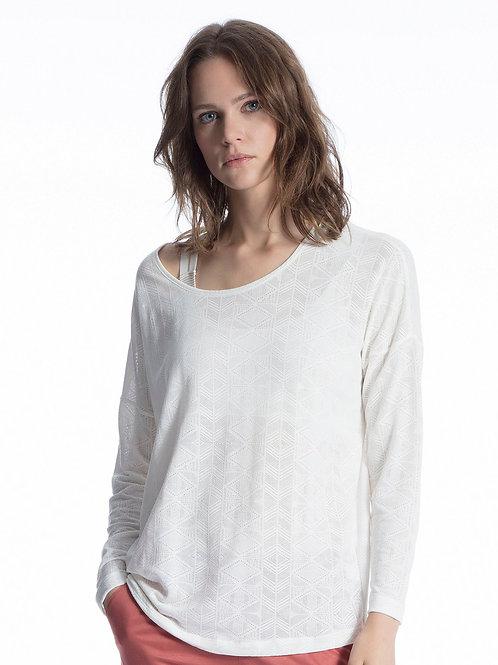 Tee-shirt jacquart manches longues (15051)  - CALIDA
