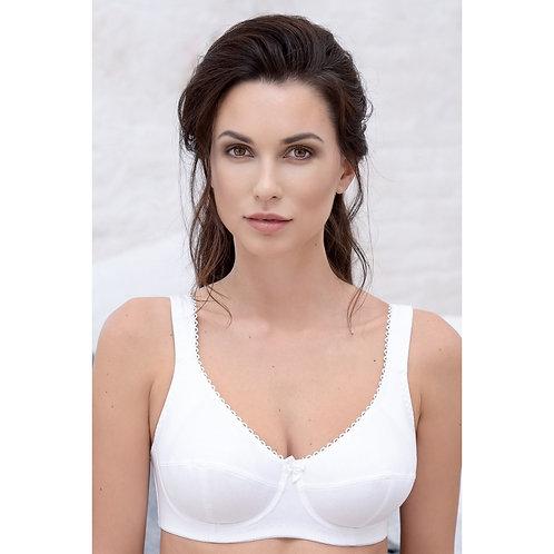 Gabrielle - SG sans armatures coton - Blanc - PIEGE