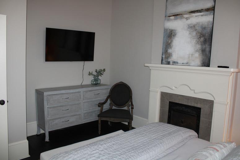 TV and Dresser in Bedroom