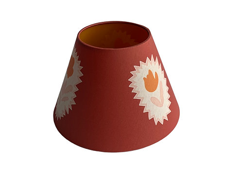 Lampshade - Folk Flowers - Library Red