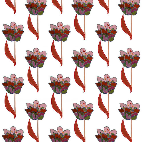 Tulips White and Red