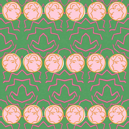 Having a Chat - Green and Pink