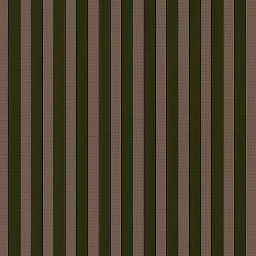 Tuscan Stripes - Natural & Moss