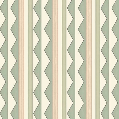 Bloomsbury Stripes - Soft Sage Green