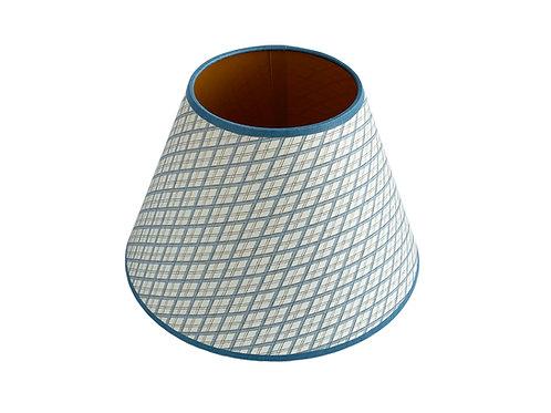 Lampshade - Little Lattice - Blue