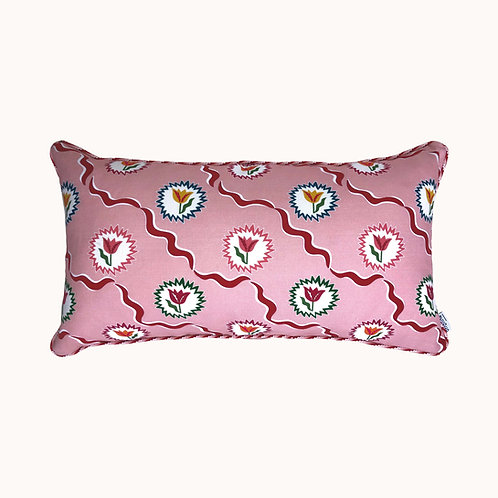Cushion - Tulips of Belgravia - Pink & Red