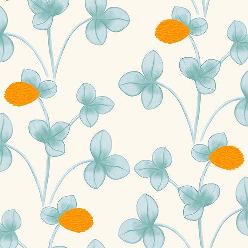 Chintz Constance - Light Blue & Marigold