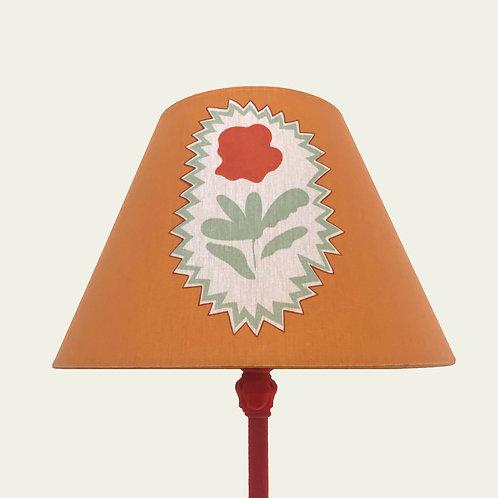 Lampshade - Folk Flowers - Ochre