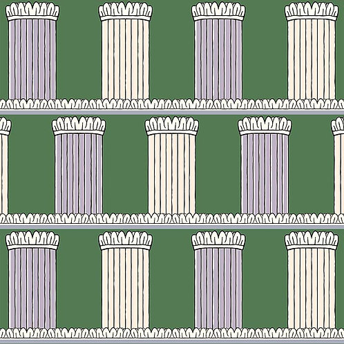 Pillars - Green and Lilac