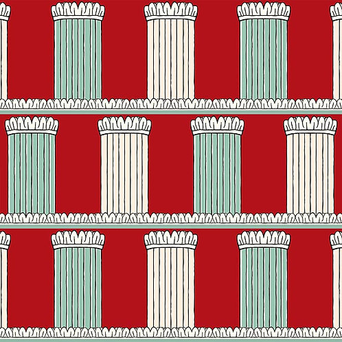 Pillars - Red and Celadon