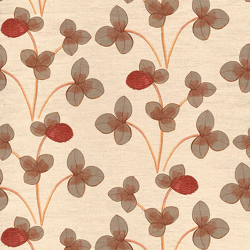 Chintz Constance - Ochre Red