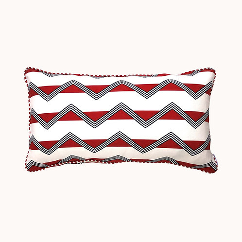 Cushion - Moroccan Stripes - Red