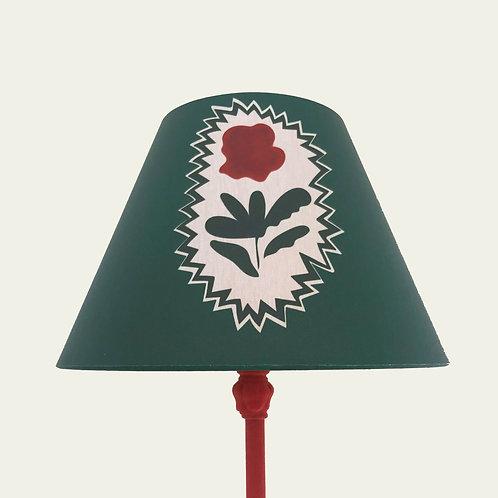 Lampshade - Folk Flowers - Green