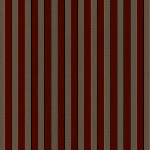 Tuscan Stripes - Mocha and Red