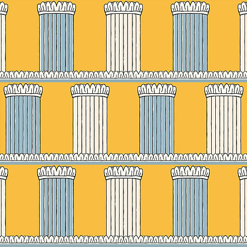 Pillars - Yellow and Blue