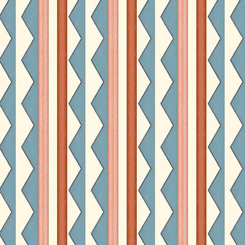 Bloomsbury Stripes - Denim Blue
