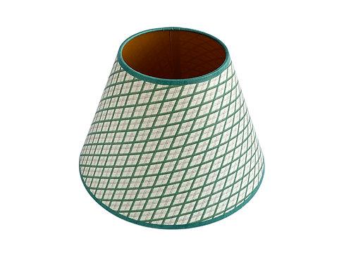 Lampshade - Little Lattice - Green