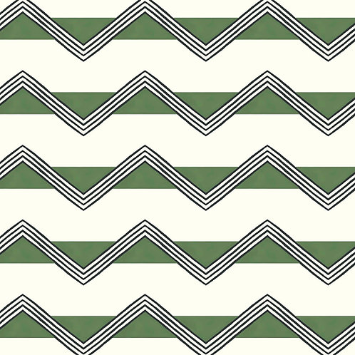 Moroccan Stripes - Green