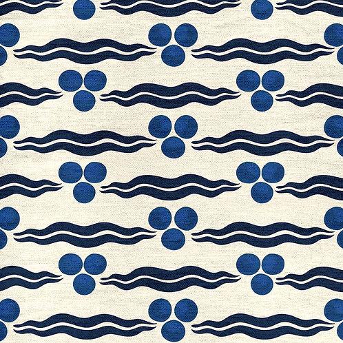 Chintamani - Cream and Navy Blue