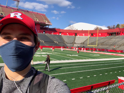 Press Box Experience at Illinois vs Rutgers