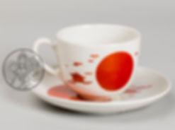 Н. Суетин. Чашка с блюдцем с супрематической росписью