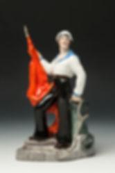 Метрос со знаменем. Автор Н.Я. Данько. 1