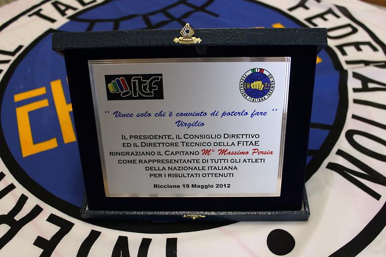 Targa Premio FITAE-ITF