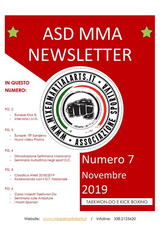 Newsletter ASD MMA numero 7 novembre 201