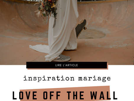 Inspiration mariage skate ⚡ Love off the wall ⚡