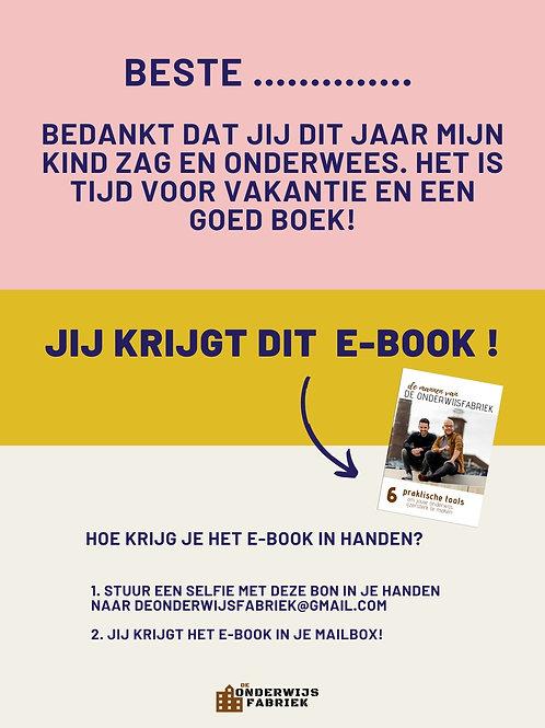 CADEAUBON E-book voor juf of meester!