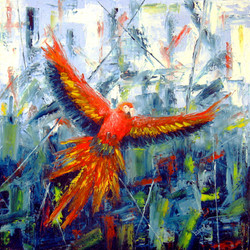 Letící papoušek