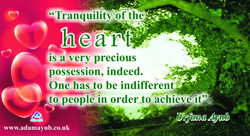 Tranquility of heart