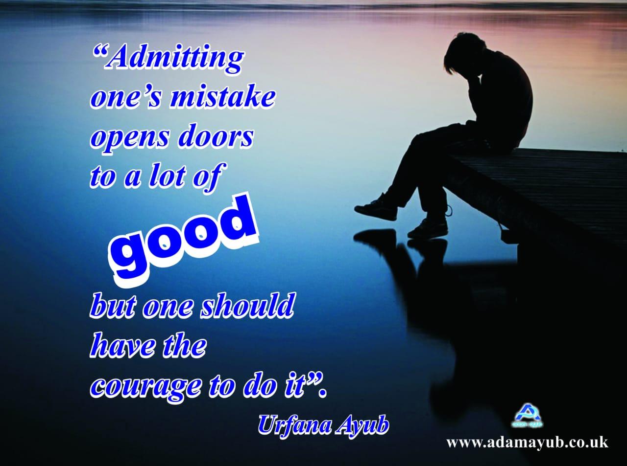 Admitting ones mistake