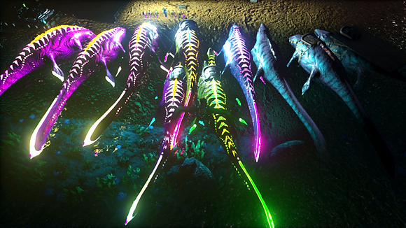 x-mosasaur adult clones unleveled (multiple colors)