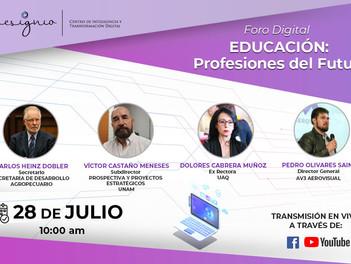 """Invitación al Foro de """"Educación: Profesiones del futuro""""."""