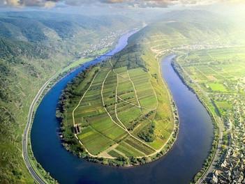 Viajando por el río Mosela.