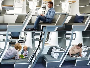 Aviones de dos pisos: acabarán con el distanciamiento social.