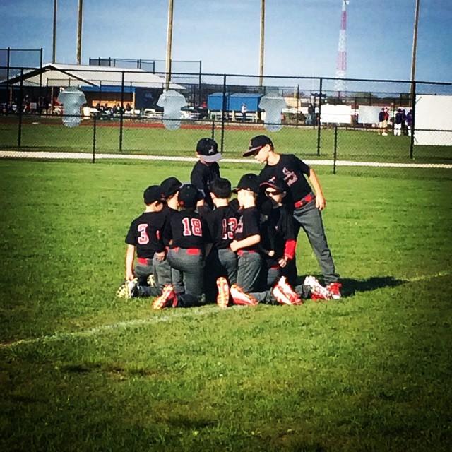 Instagram - Pre-game huddle!! 5-2-15