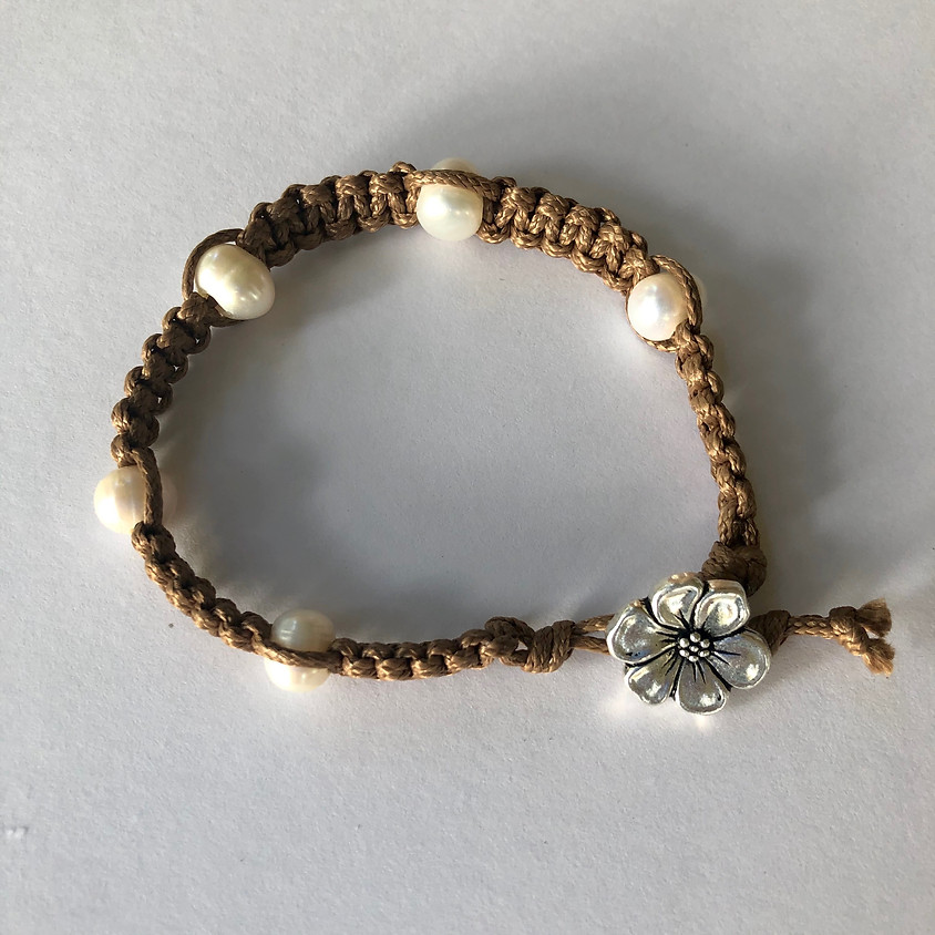 Beach Cord Boot Camp: Featuring Square Stitch Bracelet with Pearls
