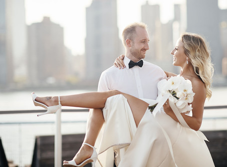 New York wedding with Manhattan skyline view