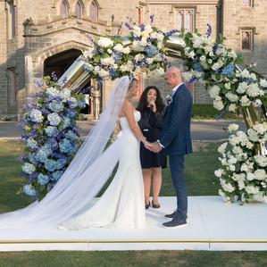 Royal Blue Whitby Castle Wedding