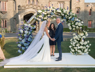 Royal Blue Whitby Castle Wedding