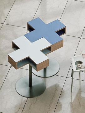 Cross cafe table, 1998  Trunk, Japan