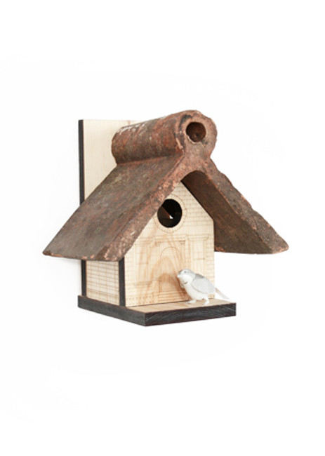 Reclaimed Rooftile Birdhouse / TEN XYZ