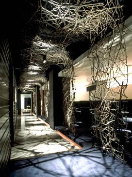 Twiggy screen, 2001 Conscious Restaurant, Japan