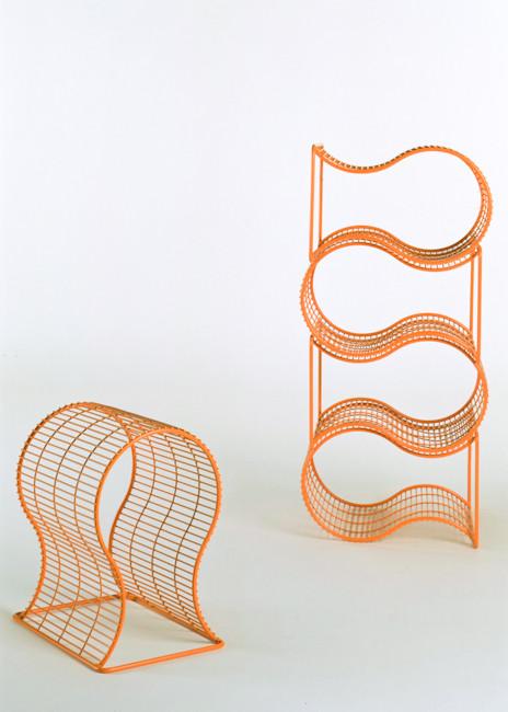 Wire Frame Stool=Shelf, 1996 / self production, UK