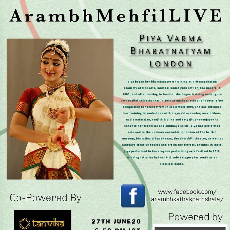 Arambh Mehfil Live - Bharatanatyam