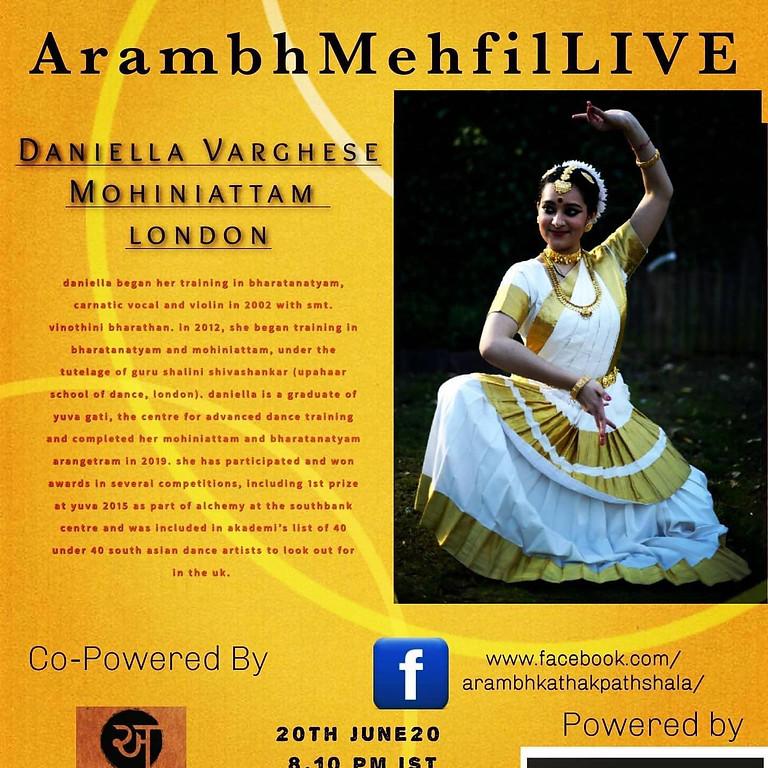 Arambh Mehfil Live - Mohiniattam